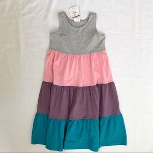 New HA Racerback Tiered Dress Color Block 160 14